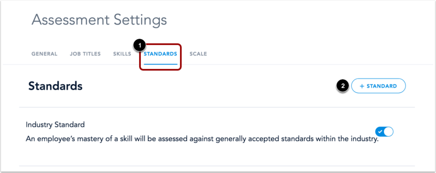 View Standards Tab