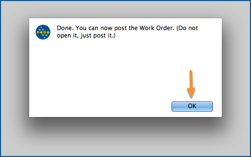 You can now post the Work Order.