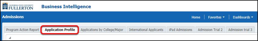 Application Profile select