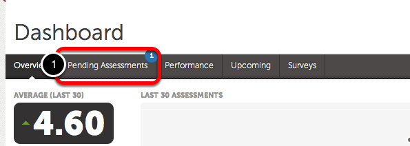 Option 2: Access Pending Assessments via Pending Assessments Tab