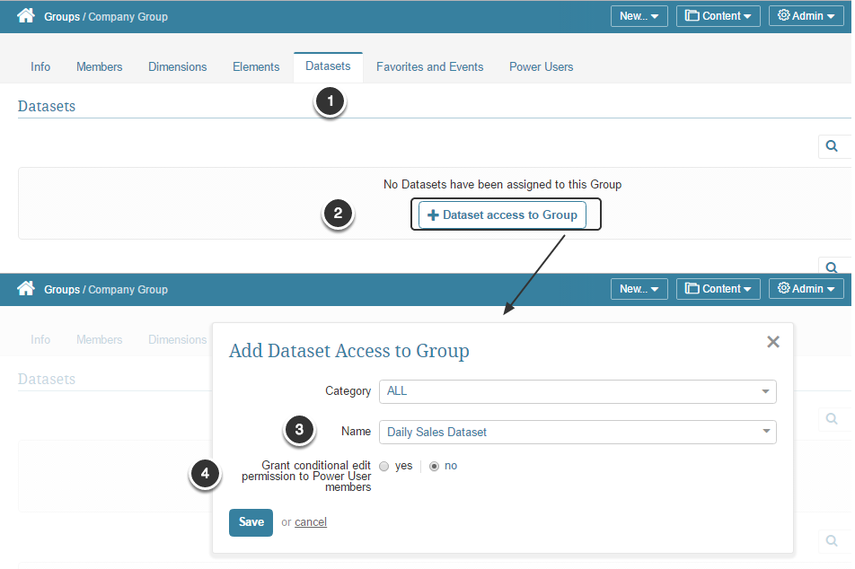Dataset View Access