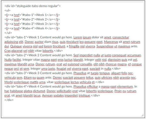 sample code with Lorem Ipsum