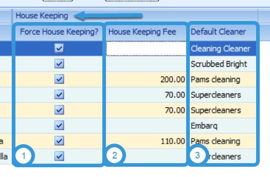 House Keeping Settings