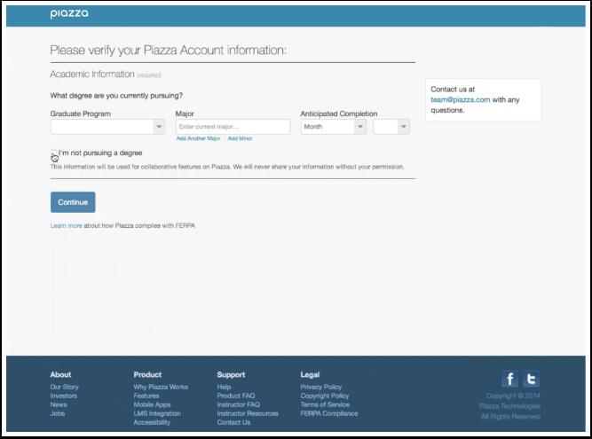 Verify Account Information