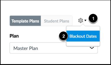 Open Blackout Dates