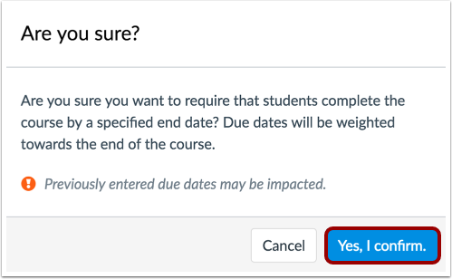 Require Students Complete Course by Specified End Date