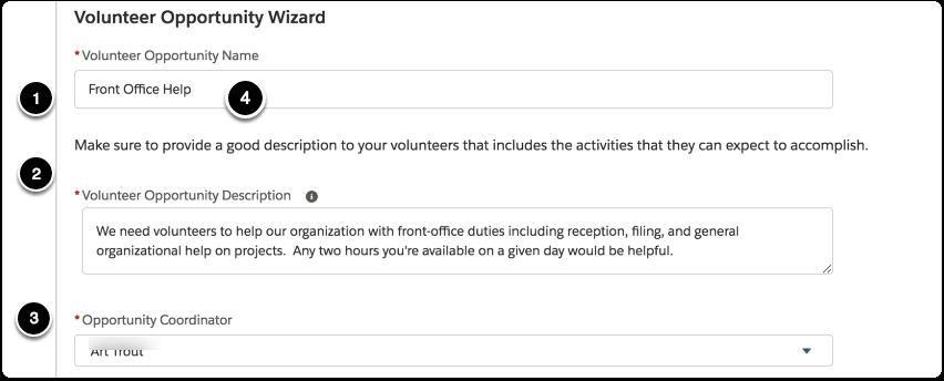 Define the Volunteer Opportunity