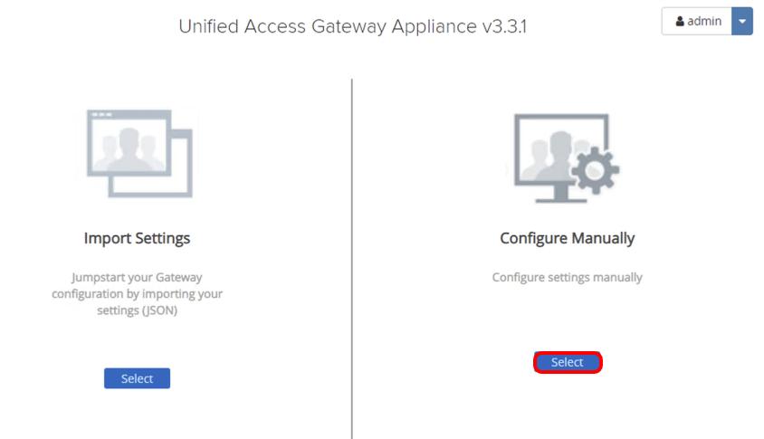 Select Configuration Settings