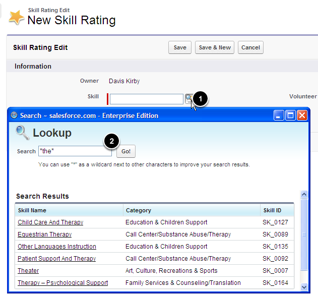 Search for the Skill