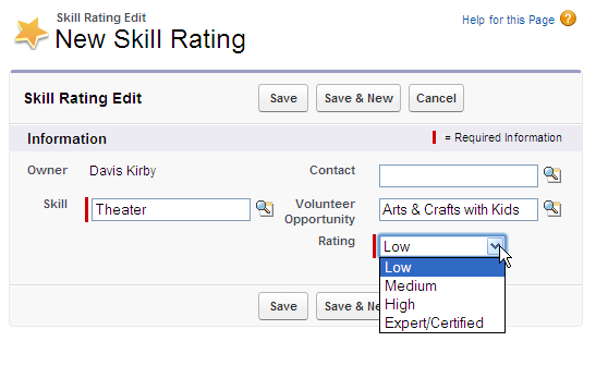 Fill out the other required field: Rating