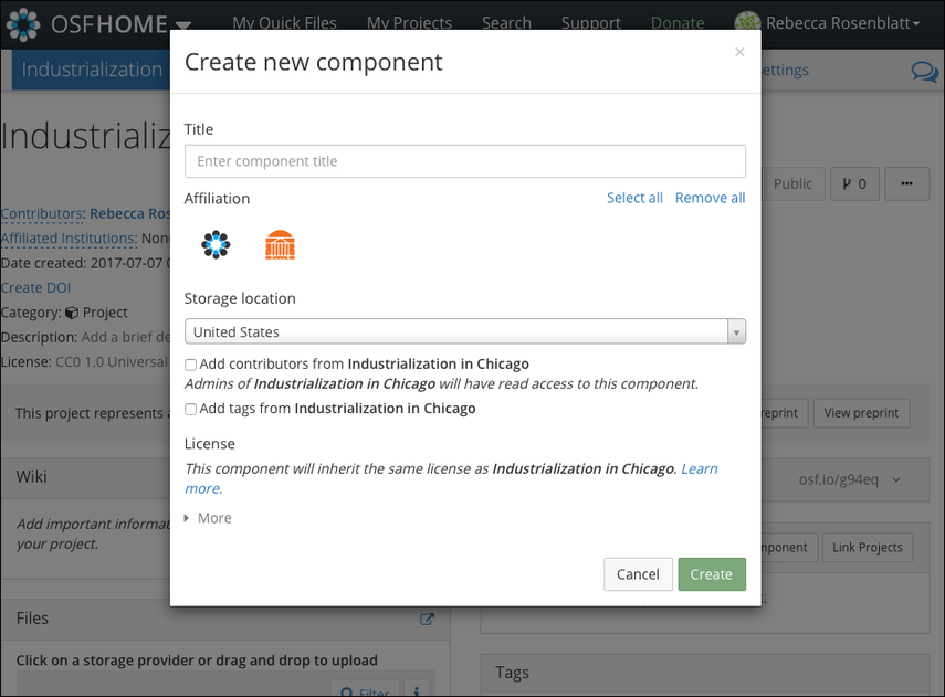 Create New Component