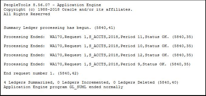 Summary Ledger log