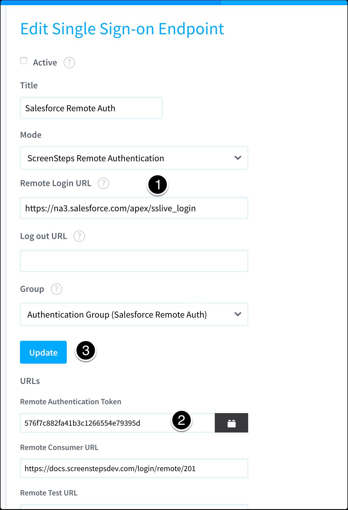 Enter URL Into ScreenSteps Admin Area