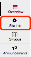Select Site Info