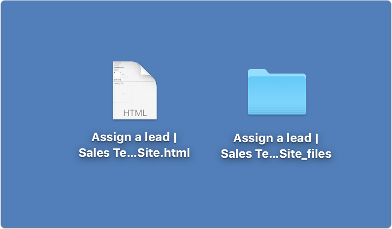 File and folder saved together