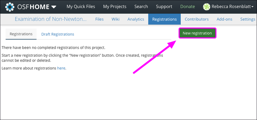 Create a Registration