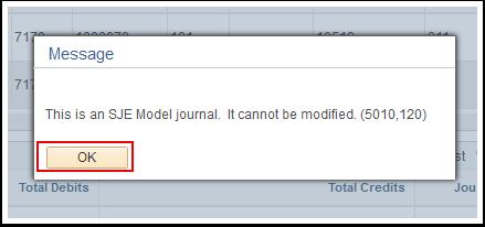 SJE Model confirmation box