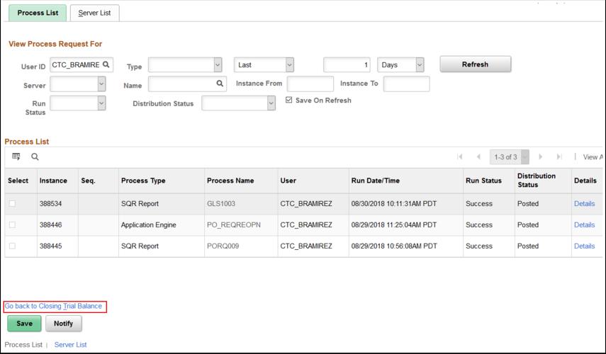 Process Monitor Process List tab