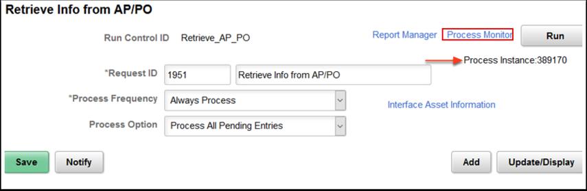 Retrieve Info from AP PO page