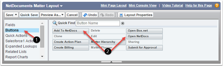 Optional Page Layout Buttons