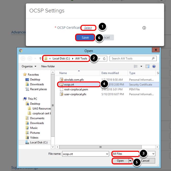 Select OCSP Certificate