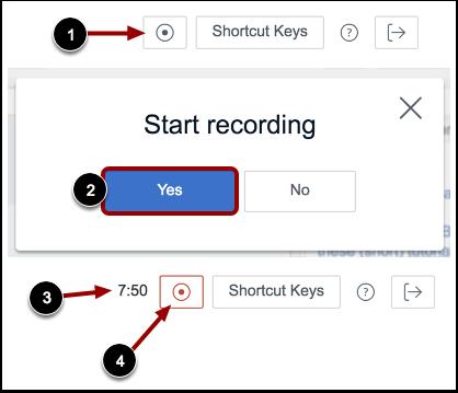 Iniciar/Parar gravação (Start/Stop Recording)