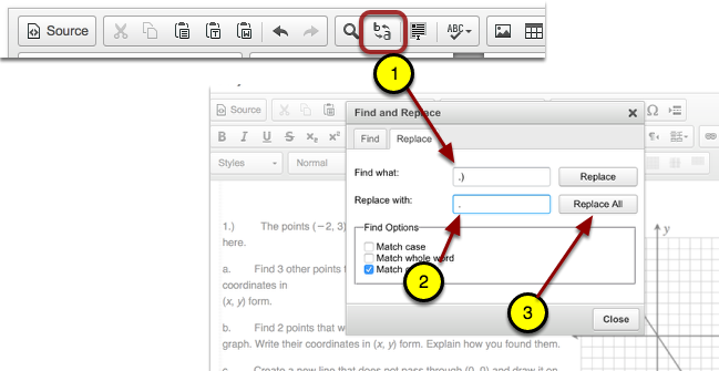 Online Editor: Find and Replace
