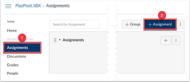 Create an assignment