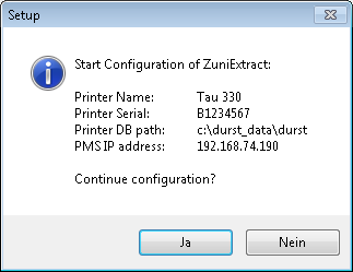 ZuniExtract confirmation