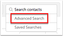 Advanced search option