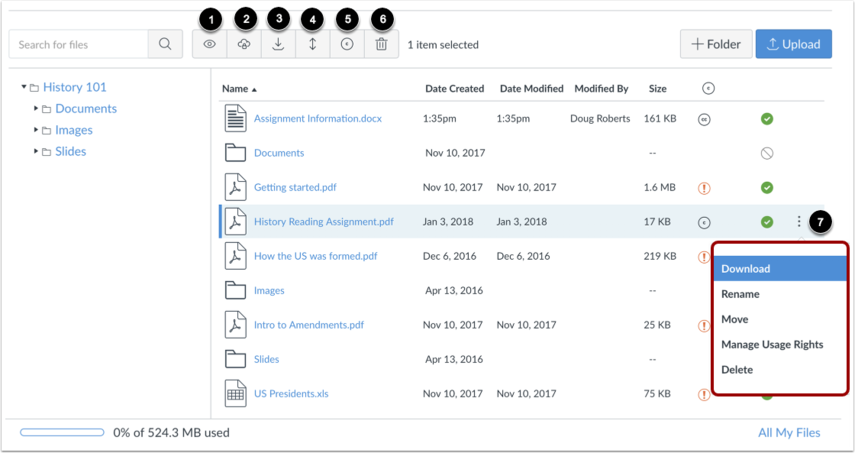 Manage Selected Files