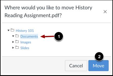 Elegir nueva ubicación de archivo