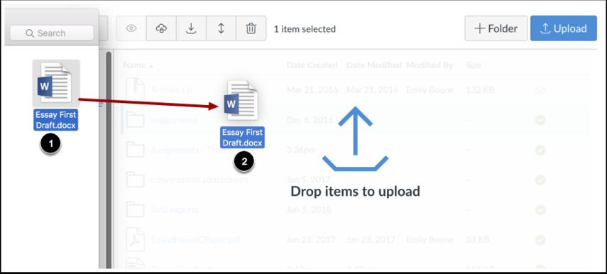 Subir archivos mediante arrastrar y soltar