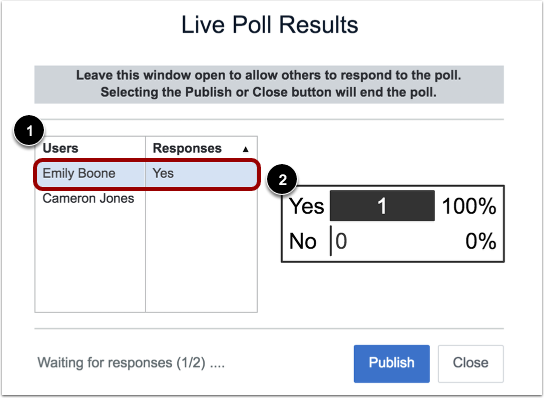 View Live Poll Results Incomplete