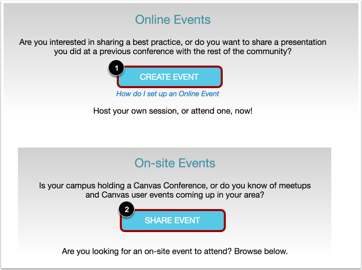 Create Online Event