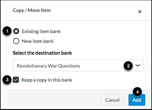 Choose Item Bank