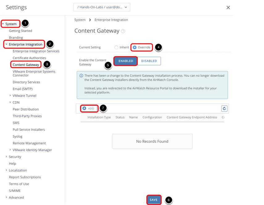 Enabling Content Gateway