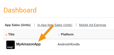 Log into the Amazon Developer Console <https://developer.amazon.com/home.html> and click on the app you want to update.