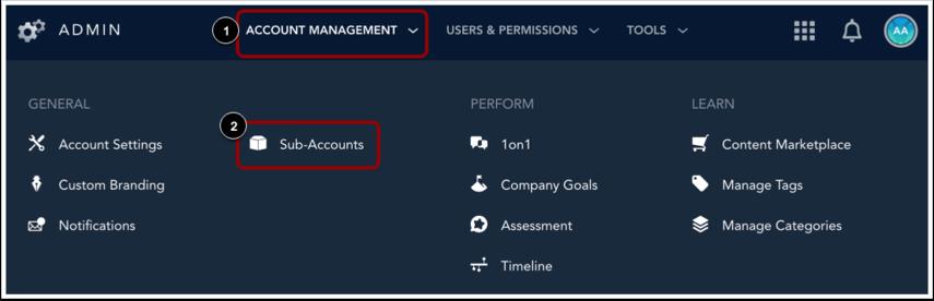 Ouvrir Sous-comptes