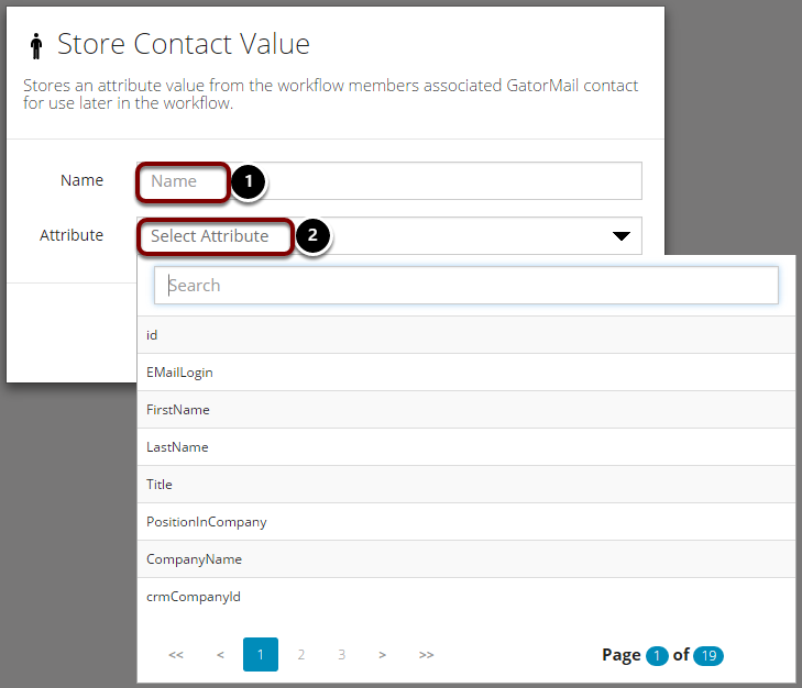Store Contact Value