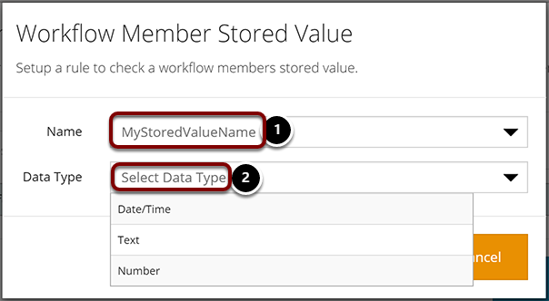 Workflow Member Stored Value