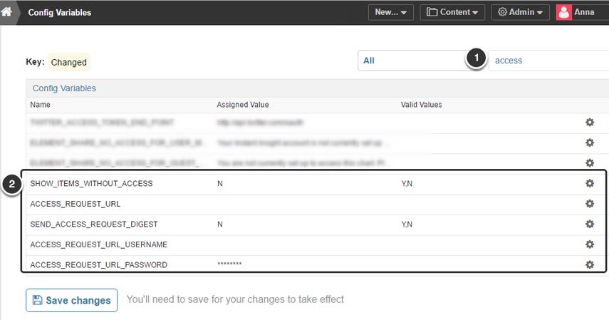 Access the variables via Admin menu > Utilities > Config Variables
