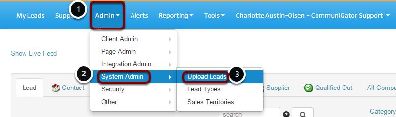 Admin - Upload Leads