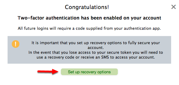 "6.  Click ""Set up recovery options""."