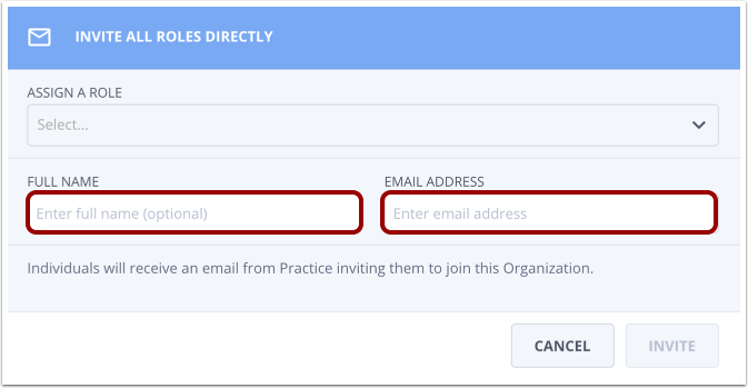 Type email address