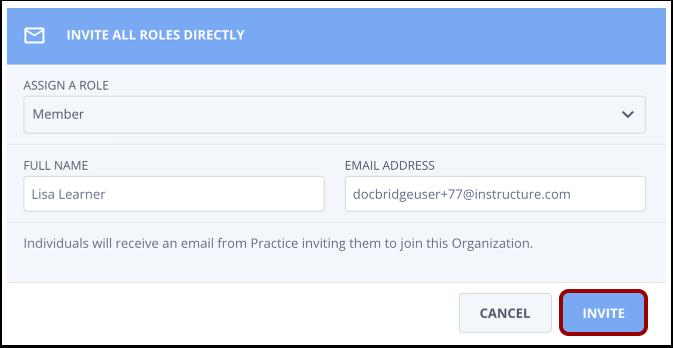 Click Send Invite button