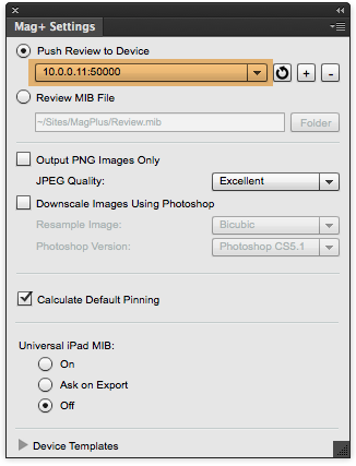 """Click on the """"OK"""" button to save this device to the drop-down menu in the Mag+ Settings panel."""