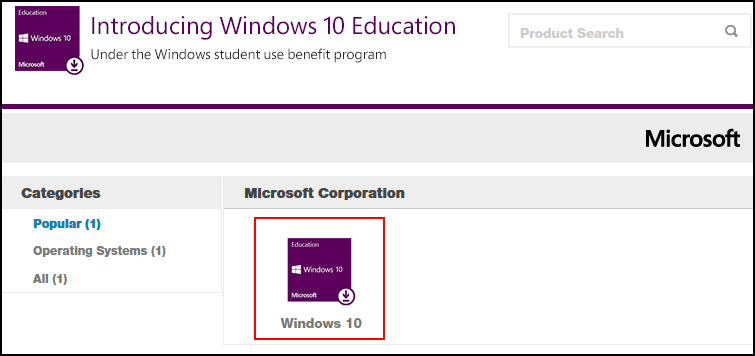 Windows 10 Education store