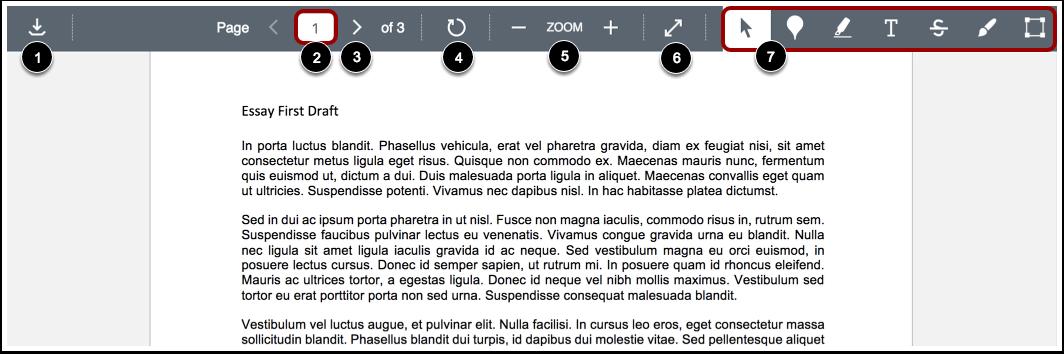 Afficher la barre d'outils DocViewer