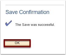Save confirmation message example